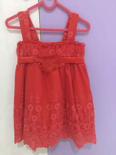 Red dress anak 1 tahun