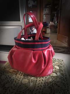 Moschino red bag small