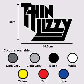 THIN LIZZY Premium Vinyl Sticker (Music Rock)