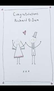 Personalised wedding card