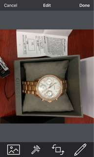 Jam tangan wanita Guess W0623L2 rose gold [original]