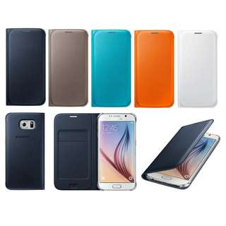 SAMSUNG GALAXY S6 Flip Wallet Cover (EF-WG920)原廠翻頁式皮套, 適合G9200, G9208, G920F, G920I等. 全新原裝