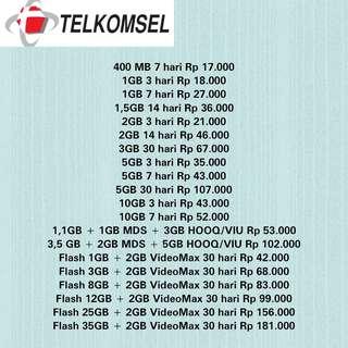 Kuota Internet Telkomsel Murah