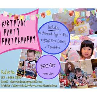 Best Birthday Party Photography