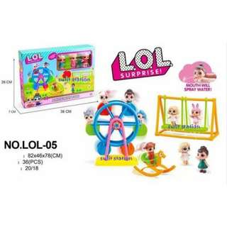 LOL SURPRISE DOLL GIRLS FERRIS WHEEL CIRCUS AMUSEMENT PLAYGROUND THEME PARK TOYS