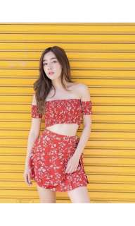 Red Floral Set( include postage )