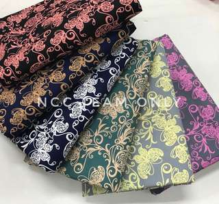 KAIN PASANG JAPANESE COTTON BUTTERFLY DESIGN