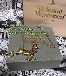 (最後1條) 購自英國 2017秋冬 聖誕節 Vivienne Westwood 閃石 斑比小鹿 LOGO 頸鍊 頸鏈 項鏈 (保証正貨及全新)