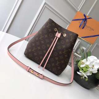 LV Louis Vuitton NéoNoé Monogram Bag 櫻花🌸粉紅帆布水桶包