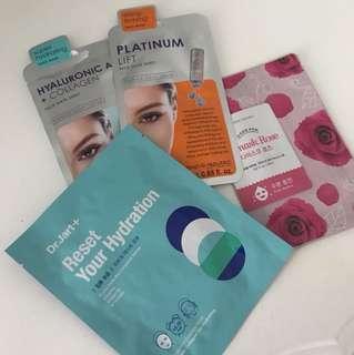 Assorted face masks