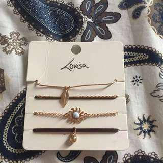 Lovisa Anklet Bracelet Set