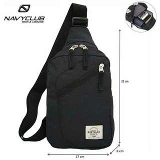 Navy club tas selempang travel waterproof 5517 - hitam