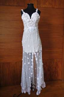 White Gown with Floral Detail