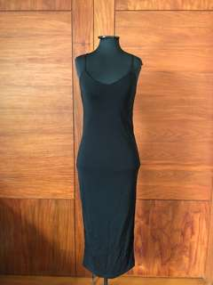 & Other Stories / Long Strapless Black Dress