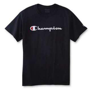 Authentic Champion Script T Shirt Instock