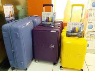American Tourister 立體唱盤刻紋硬殻行李箱喼旅行箱 20 寸 25寸 30寸