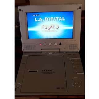 LA Digital Portable DVD/TV Player DVD-166 with self powered battery, full accessory, remote control and antenna