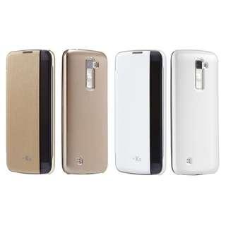 Voia韓製LG K10側邊透視感應皮套 CleanUP Quick Cover Case 連屏幕保護貼(適合K430DSY, K430N) 100% NEW