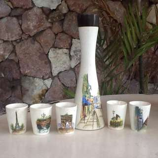 Sake drinking set (6 pcs.)
