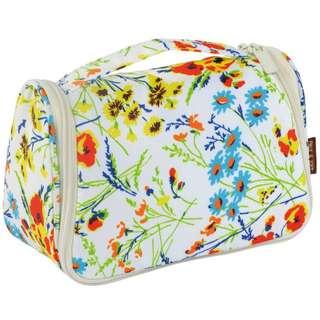 旅行用品 - 全新 Paul & Joe 花花白底 雜物袋 化妝袋 旅行掛袋 有掛鉤可以掛任何地方/酒店/廁所