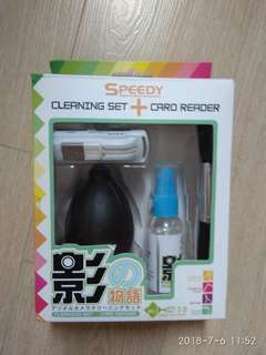 TV/Computer Screen Cleaning Set + Card Reader NEW