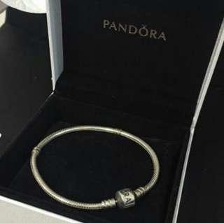 PANDORA Silver Bracelet with Silver Clasp