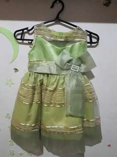 Green Gown for Baby Girl