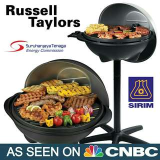RUSSELL TAYLORS Electric Indoor/Outdoor BBQ Grill EB-10