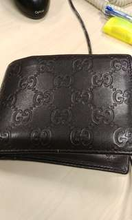Gucci Genuine Leather Made in Italy Wallet