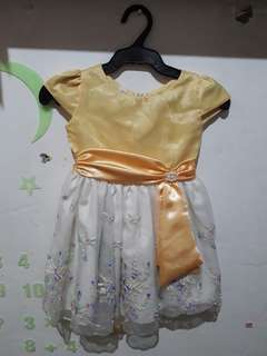 Yellow Gown for Baby Girl