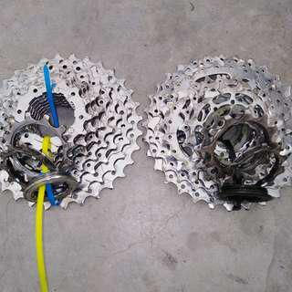 9 speed cassette 11-32t SRAM and monsoon