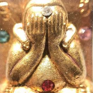 ✅ Thai Amulet - Phra Pidta ThongSeanDeang Nur Samrit - GoldBar Design - Lp ChamNan - Cham Nan - Thai Amulets