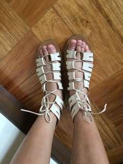 [J. CREW] Nude Gladiator Sandals