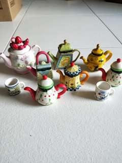 Collection of Cute Miniature Teapots & Mugs