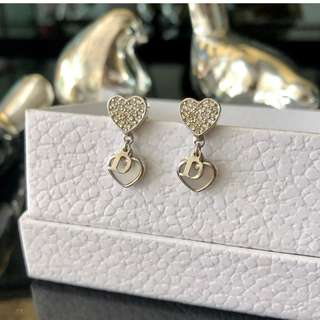 Authentic Dior Rhinestone Earrings
