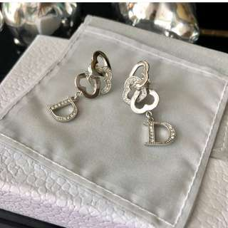 Authentic Dior Dazzle Silver Earrings