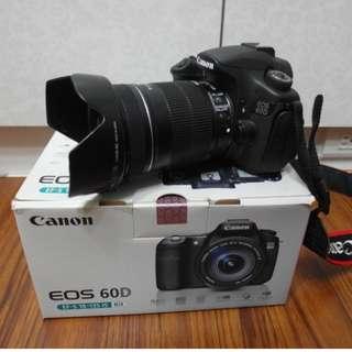 【出售】Canon 60D 數位單眼相機 盒裝完整 9成新