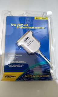 🚚 USB轉印表機LPT1,USB 對印表機傳輸線 36Pin(IEEE-1284)