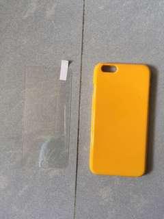 Apple iPhone 6 Plus 全包黃色手機殻(連mon貼)