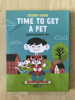 FlashKids Second Grade Time to Get a Pet Math Activity Kit