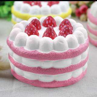 Kawaii Big Jumbo Strawberry Cake Bread Ice Cream Squishy Squeeze