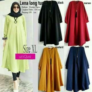 Baju muslim murah atasan lena long tunic blus muslim blous