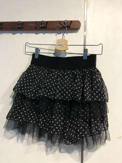 polkadots mini skirt