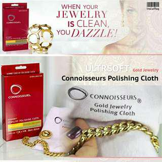 Connoisseurs Ultrasoft Gold Jewelry Polishing Cloth美國鑒賞家專業擦金布清潔去銹拋光提亮一take過