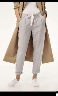 Aritzia Wilfred Linen Allant pants with drawstring cropped