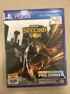 Playstation 4 inFamous Second Son (Used)