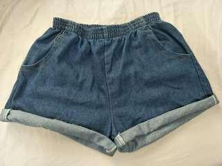 🚚 鬆緊帶牛仔短褲