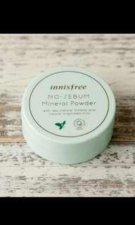 Innisfree no sebum mineral powder 5gr