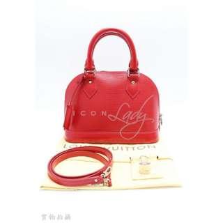 LV M40851 Alma BB 紅色 Epi 皮革手挽袋 肩背袋 手袋