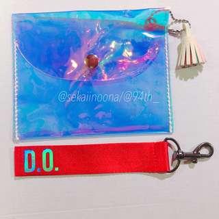 Hologram pouch + EXO DO | KYUNGSOO nametag